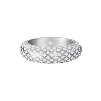 ESPRIT women's ring silver lattice white ESRG91919C1
