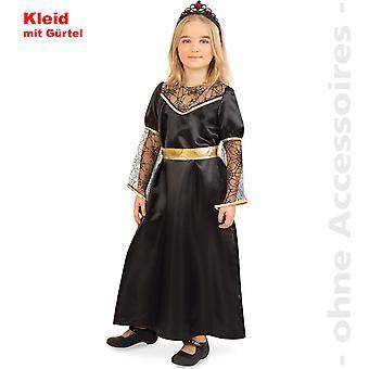 Dunkle Königin Kostüm Black Queen Kinder schwarze Fee Kinderkostüm