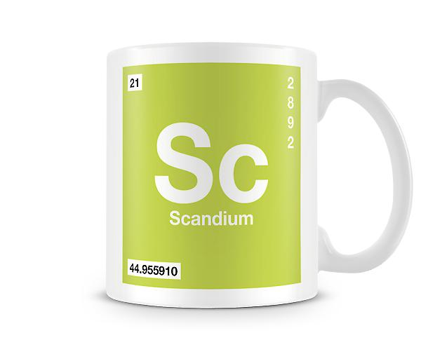 Element Symbol 021 Sc - Scandium Printed Mug