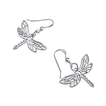 Gemshine - ladies - earrings - 925 - Dragonfly - 3 cm
