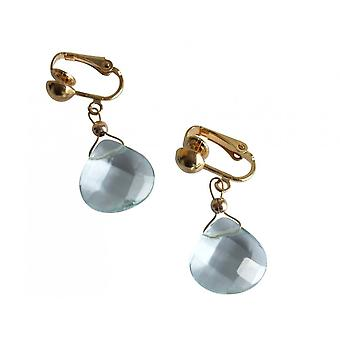 Gemshine - ladies - quarzo orecchini - orecchini - oro - gocce - acquamarina - sfaccettato cm - blu - 2