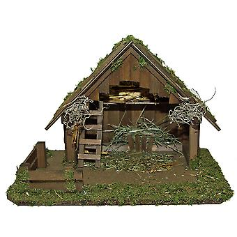 Christmas Nativity scene wood Nativity stable NAZARETH without figures 50 x 30 x 34 cm hand work from Bavaria