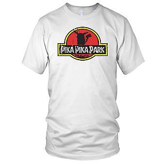 Pika Pika Park Pokemon Jurassic stil damer T skjorte