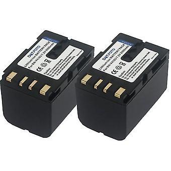 2 x Dot.Foto JVC BN-V416, BN-V416U wymiany baterii - 7, 2V / 2000mAh