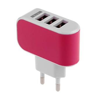 Stuff Certified ® 10-Pack Triple (3x) USB Port iPhone / Android Wall Charger Wall Charger AC Home Pink