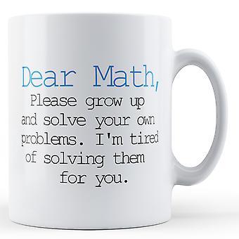 Dekoracyjne, pisząc Szanowny matematyki - kubek z nadrukiem