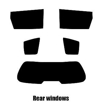Pre corte tintado - Hatchback de 5 puertas del Kia Carens - 2002 - 2006 windows posterior