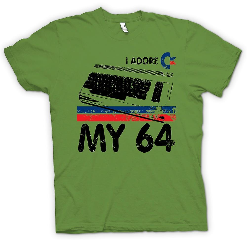 Mens T-shirt - I Adore My C64 Commodore - Retro Computer Games