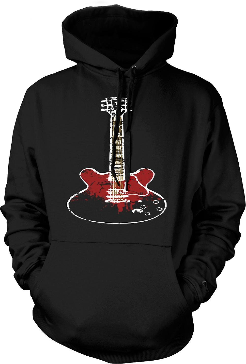Mens Hoodie - Gibson SG Guitar Rock Blues Music