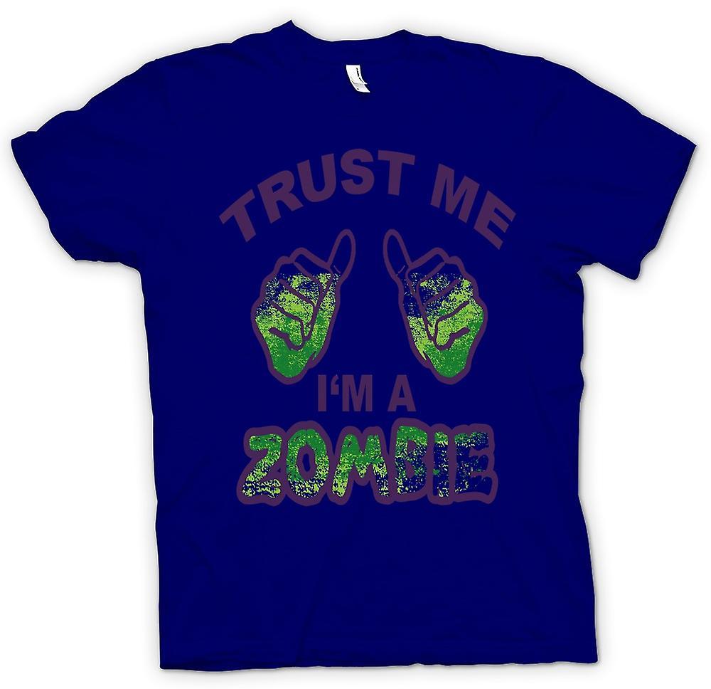Herr T-shirt - tro mig Im ett Zombie - rolig