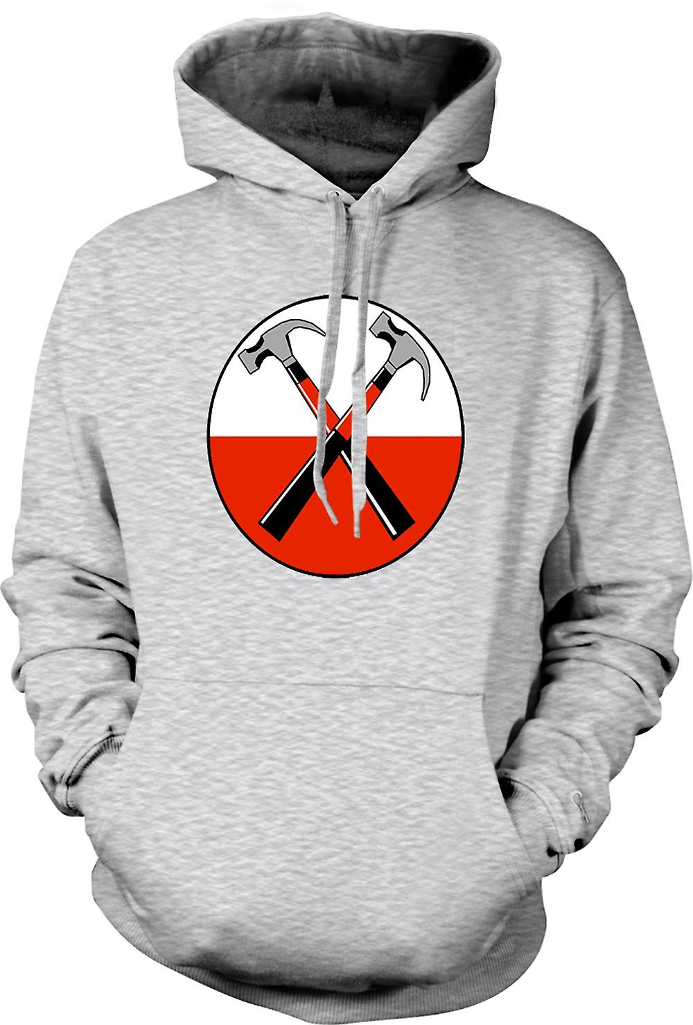Herren Hoodie - Pink Floyd - The Wall Twin Hammer