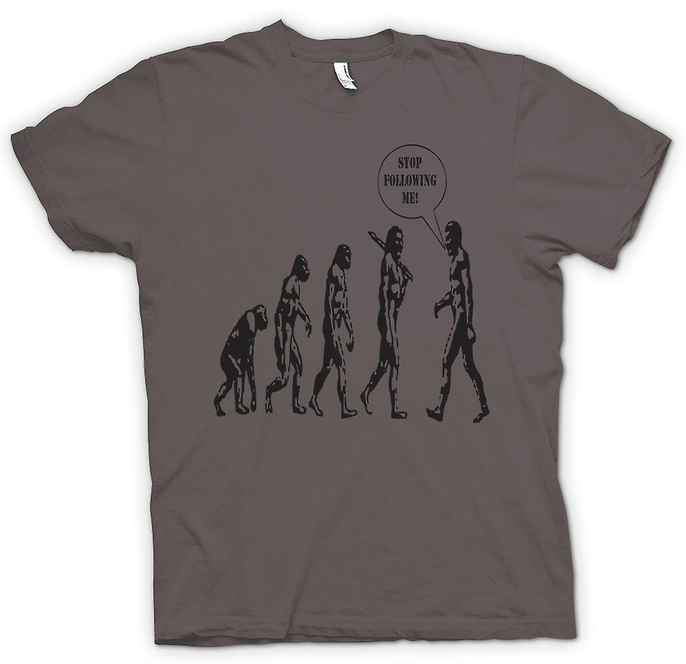 Womens T-shirt - Evolution - Stop Following Me