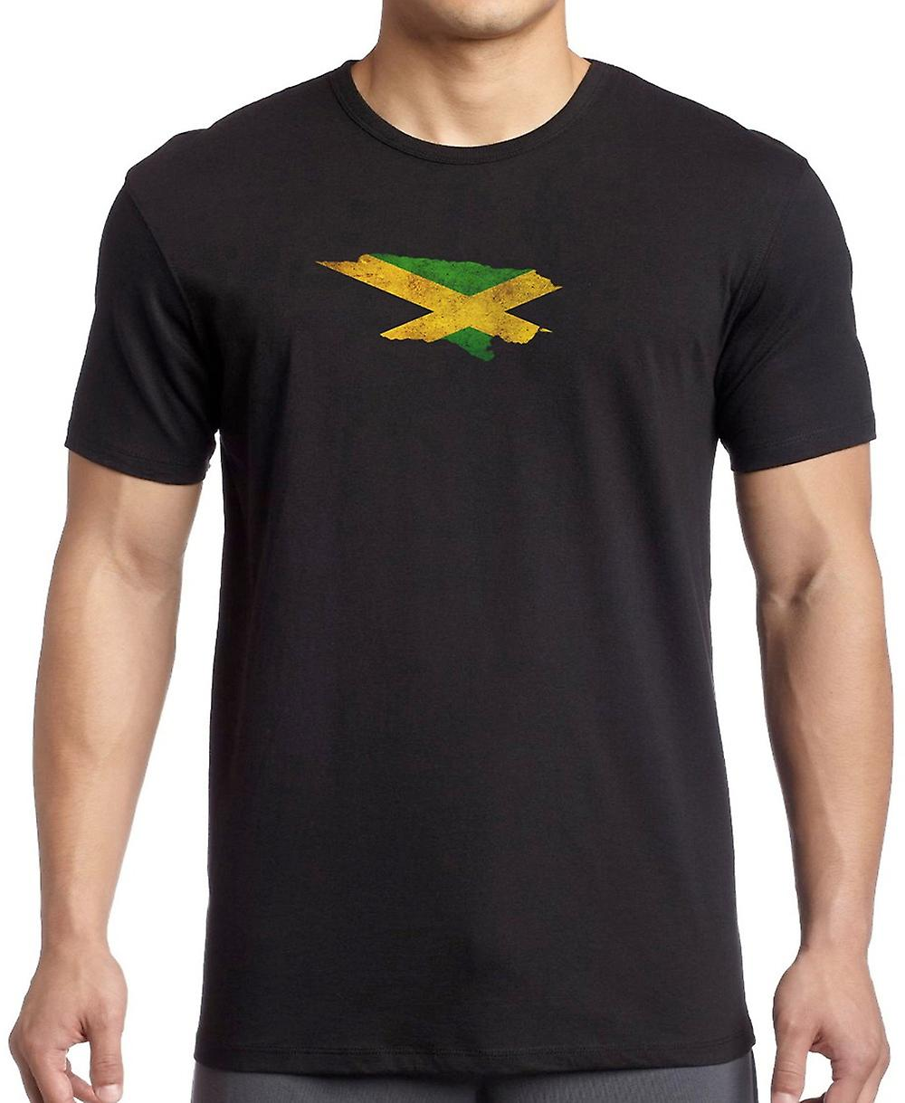 Jamaica Jamaican Flag Map Kids T Shirt
