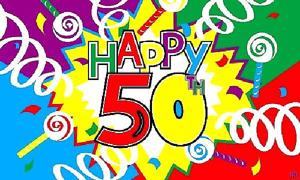 Happy 50th Birthday flagg