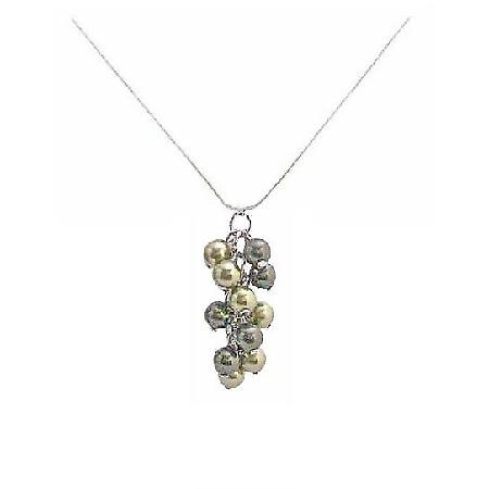 Swarovski Pearl Bridal Necklace Great prices Olive & Dark Green Pearls Pendant Necklace