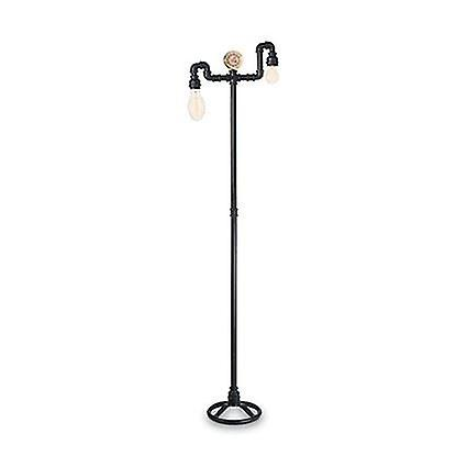 Ideal Lux - Plumber Matt noir Two Light Floor Lamp IDL136721