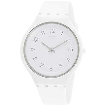 Swatch ladies Quartz analogue watch with Silicone Strap SVUW101