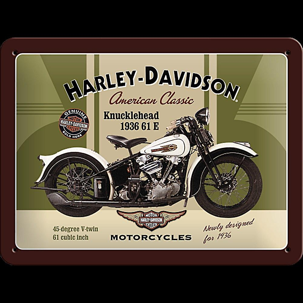 Harley Davidson Knucklehead metal sign (na 2015)