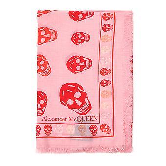 Alexander Mcqueen Pink Cotton Scarf