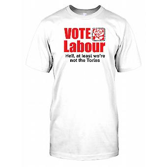 Vote Labour - At Least Were Not The Tories Mens T Shirt