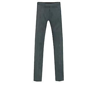 Dobell Mens schwarz und grau gestreift Morgen Hochzeit Anzug Hose Regular-Fit
