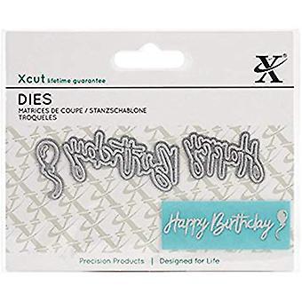 Docrafts XCut Mini Sentiment Die (3pcs) - Happy Birthday (XCU 504033)
