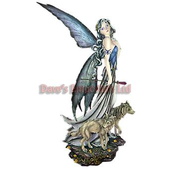 Fairy Lina and Wolves - Large Premium Fairy
