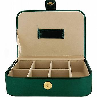 Mele Ladies-Girls Green Metallic Jewellery Box Ideal For Traveling