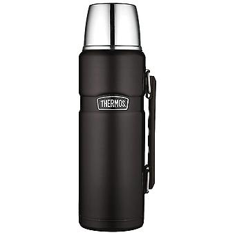 Thermos Black Stainless King Flask 1.2L