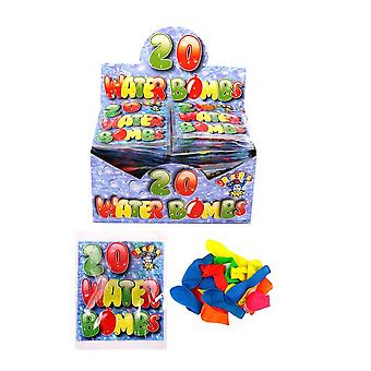 Henbrandt 20 Assorted Neon Coloured Water Bombs (Box Of 48)