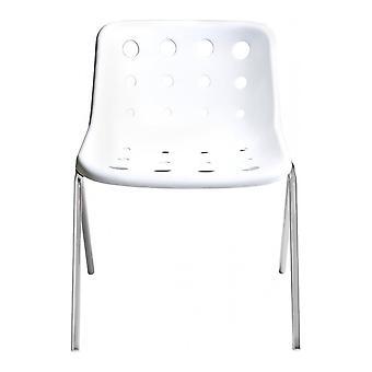 Loft Robin Day 4 Leg White Plastic Polo Chair
