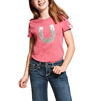 Ariat Girls Sequin Zapato Tee Rose - Violet Heather