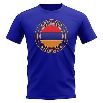 Armenia Football Badge T-Shirt (Royal)