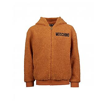 Moschino Moschino Unisex Teddy Textured Hooded Coat