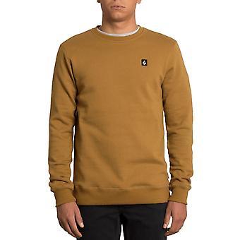 Volcom Men's Crew Neck Sweater ~ Single Stone rust