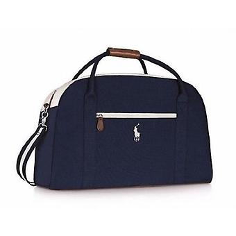 Ralph Lauren Large Dark Navy Blue With White Trim, Holdall, Gym, Travel, Weekend, Duffle Le Sac Bag