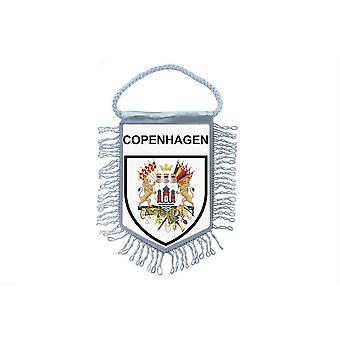 Fanion Mini Drapeau Pays Voiture Decoration Souvenir Blason Copenhague Danemark