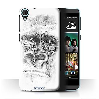 STUFF4 Case/Cover for HTC Desire 820q Dual/Gorilla/Monkey/Ape/Sketch Drawing