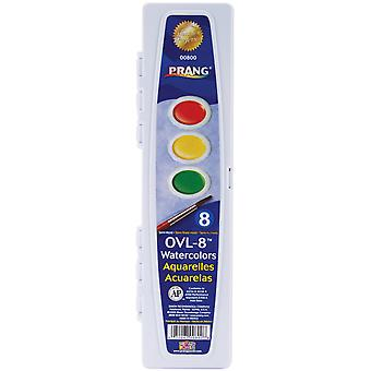 Prang Watercolor Paint Cakes 8 Pkg Assorted Colors Dt00800