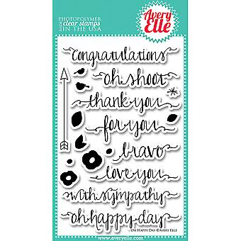 Avery Elle Clear Stamp Set 4 « X 6 » Oh Happy Day Ae1319