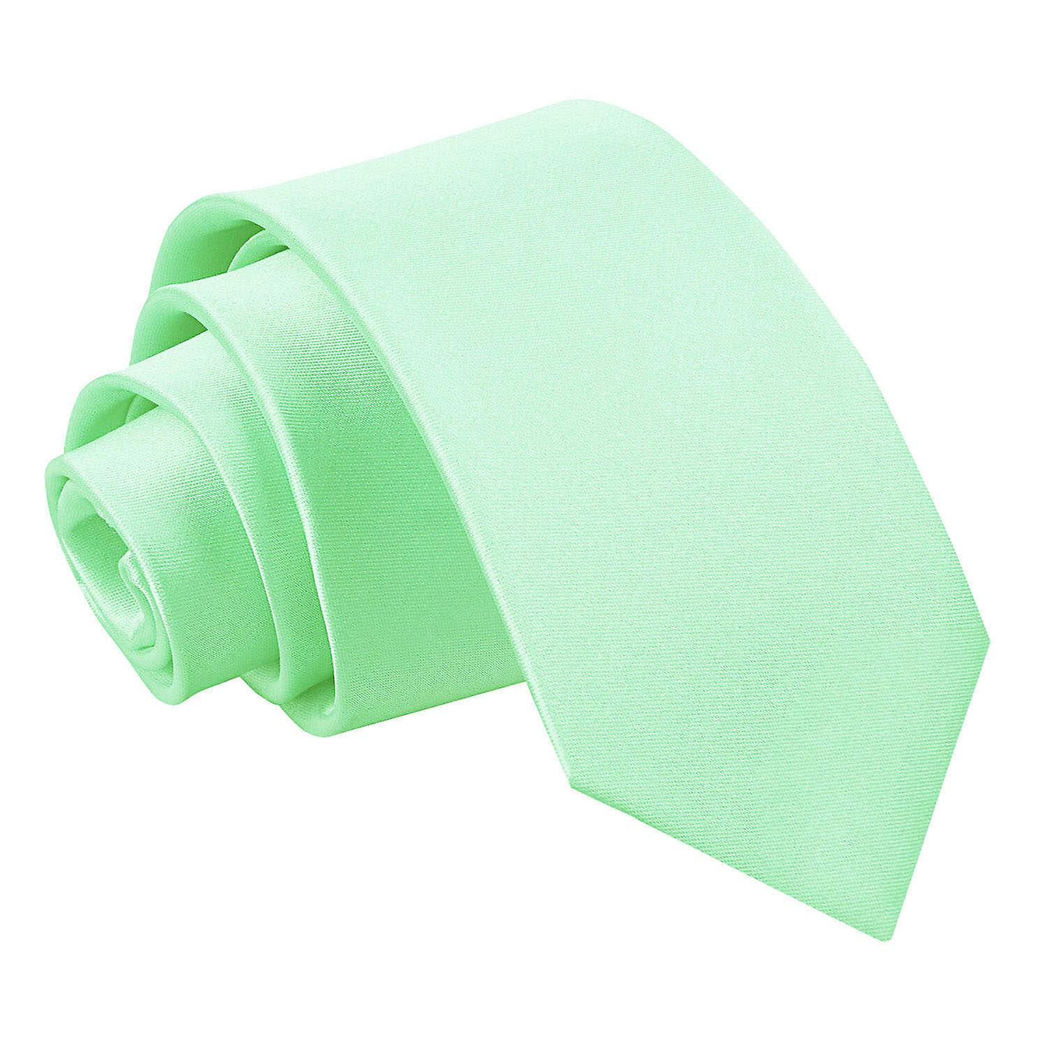 Mint Green Boy's Plain Satin Tie  (8+ years)