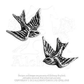 Alchemy Gothic Swallows Earrings