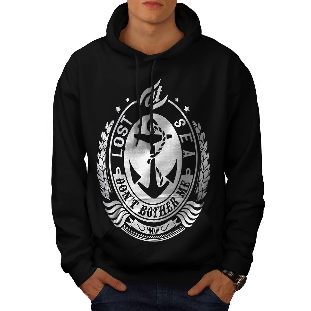 Lost At Sea Boat Ship Bother Me Men Black Hoodie | Wellcoda
