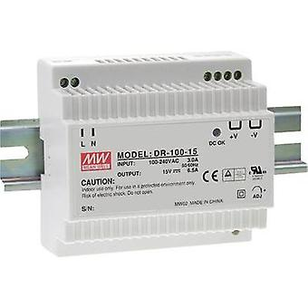 Rail mounted PSU (DIN) Mean Well DR-100-24 24 Vdc 4.2 A 100 W 1 x
