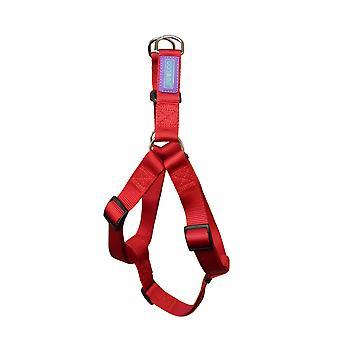 Hund & Co Nylon sele rød 19mm X76cm