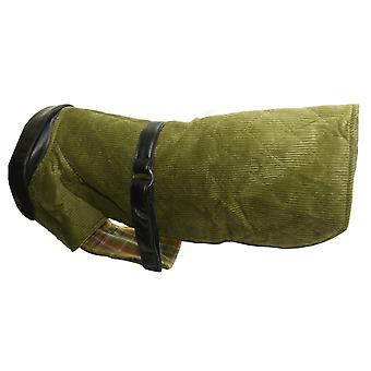 Fløjlsbukser & læder frakke grønne 22