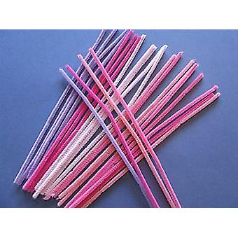 15 Shades of Pink & Lavender Chenille Pipe Cleaners | Chenille Stems