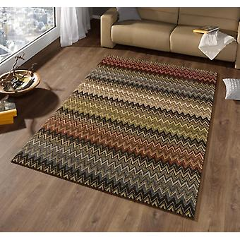 Design velour carpet mission stained Brown | 102277
