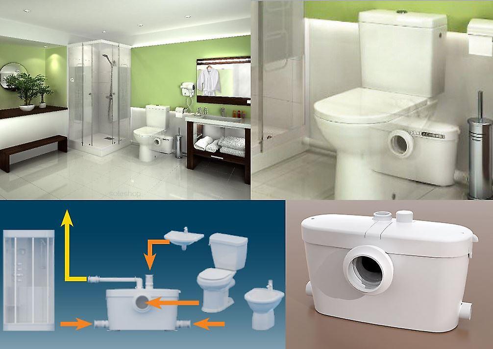 zerkleinerer pumpe schredder h cksler f r abwasser bad mit toilette wc anschluss fruugo. Black Bedroom Furniture Sets. Home Design Ideas