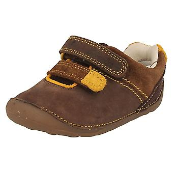 Boys Clarks First Shoes Tiny Seb - Brown Combi Leather - UK Size 5H - EU Size 21 - US Size 5.5
